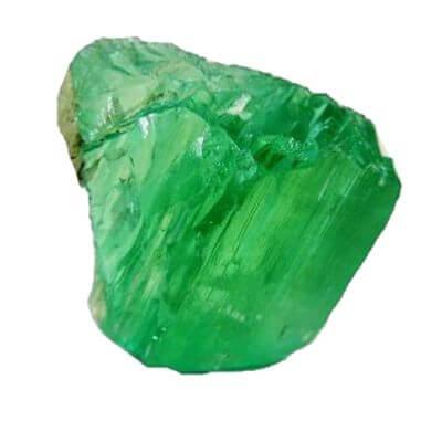 Emerald rough stone garaude